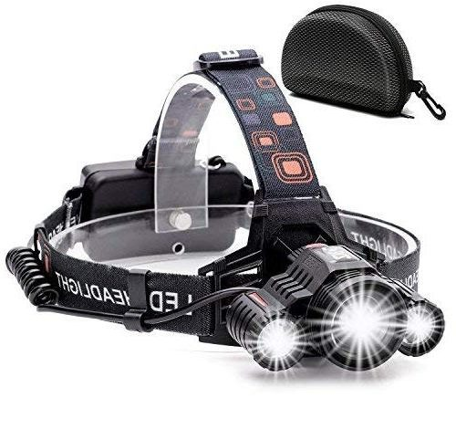 Cobiz Headlamp – Rechargeable Waterproof 6000 Lumens Headlamp