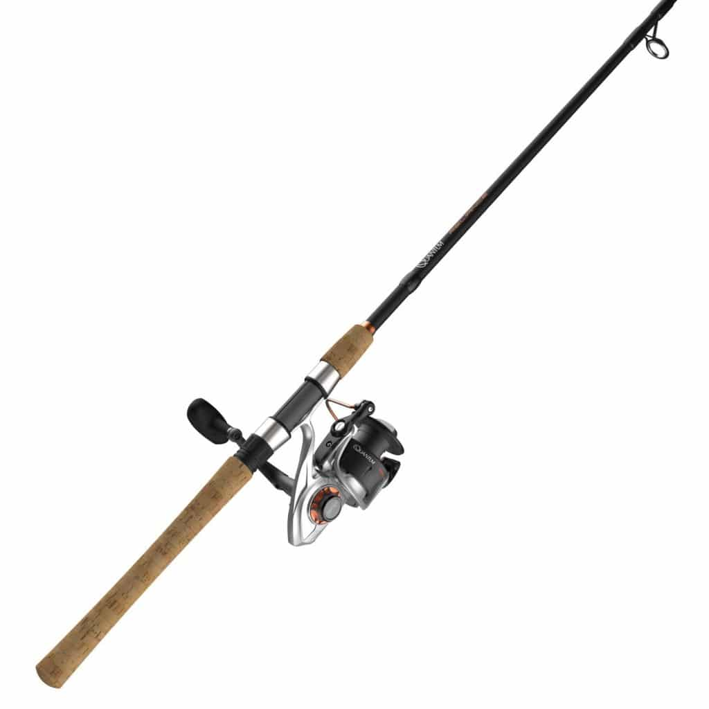 Quantum PT Reliance Spinning Reel and 2-Piece Fishing Rod Combo, Graphite Rod, Saltwater or Freshwater Ready with Fully Sealed Fishing Reel