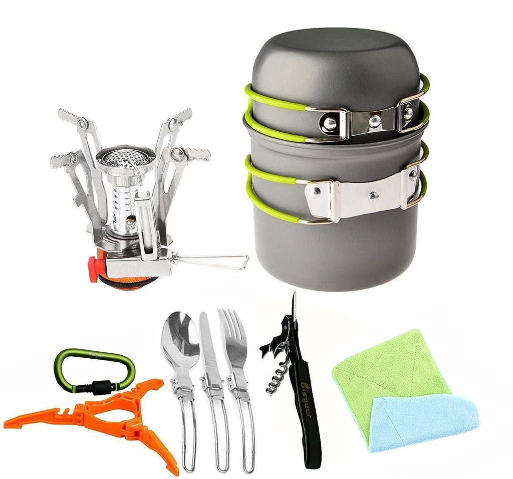 Bisgear 16 Pcs Camp Cooking Equipment