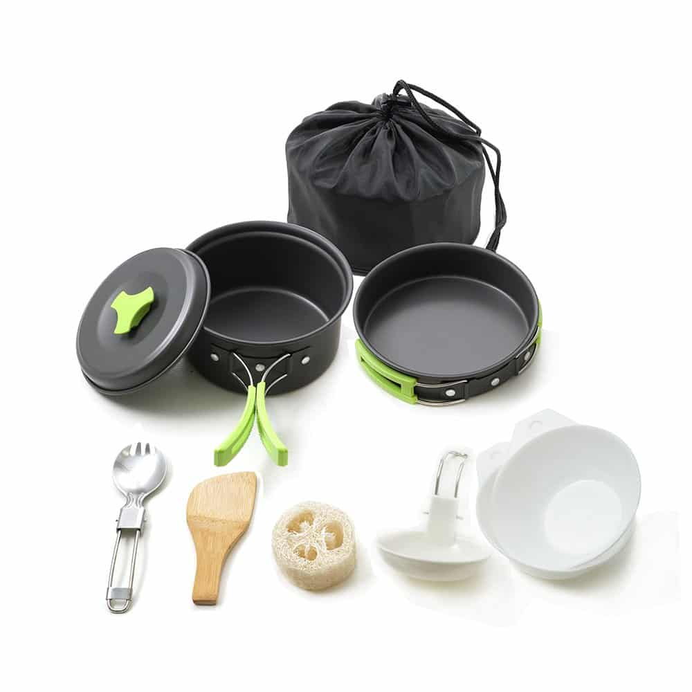 Gonex Camping Cookware Set Mess Kit