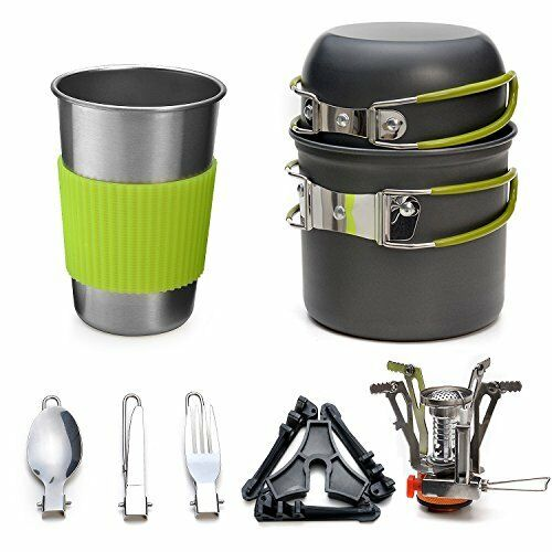 Odoland 10 pcS Camping Cookware